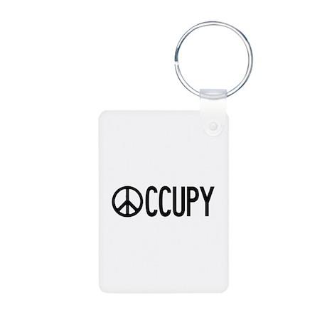 Occupy Wall Street Aluminum Photo Keychain