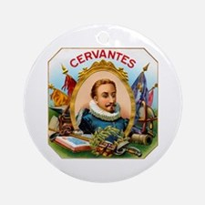 Cervantes Cigar Label Ornament (Round)