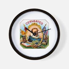 Cervantes Cigar Label Wall Clock