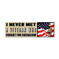 """Fight For Socialism?"" Car Magnet 10 x 3"