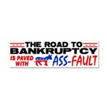 """""""Road To Bankruptcy!"""" Car Magnet 10 x 3"""