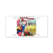 Air of Freedom Cigar Label Aluminum License Plate