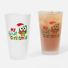 My First Christmas Owl Drinking Glass
