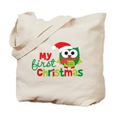 My First Christmas Owl Tote Bag