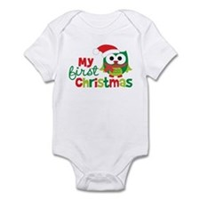 My First Christmas Owl Infant Bodysuit