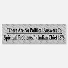 No Political Answers - Sticker (Bumper)
