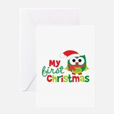 My First Christmas Owl Greeting Card