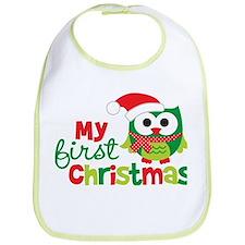 My First Christmas Owl Bib
