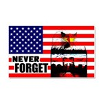 """""""Never Forget"""" Car Magnet 20 x 12"""