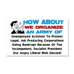 """""""Angry Liberal Mob"""" Car Magnet 20 x 12"""