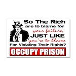 """Occupy Prison"" Car Magnet 20 x 12"