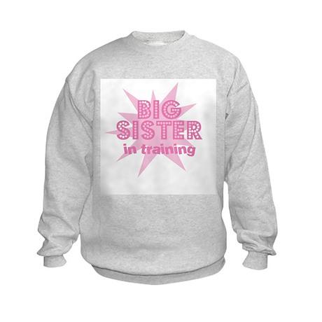 Big Sister in Training Kids Sweatshirt