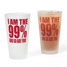 Occupy Wall Street Drinking Glass