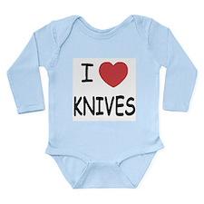 I heart knives Long Sleeve Infant Bodysuit
