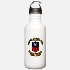 US Navy - AM with text Water Bottle