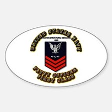 US Navy - AM with text Sticker (Oval)