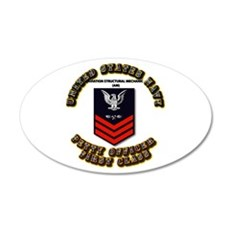 US Navy - AM with text 22x14 Oval Wall Peel
