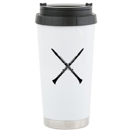 Clarinet Music Duo Stainless Steel Travel Mug
