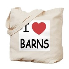 I heart barns Tote Bag