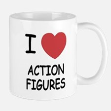 I heart action figures Mug