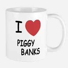 I heart piggy banks Mug