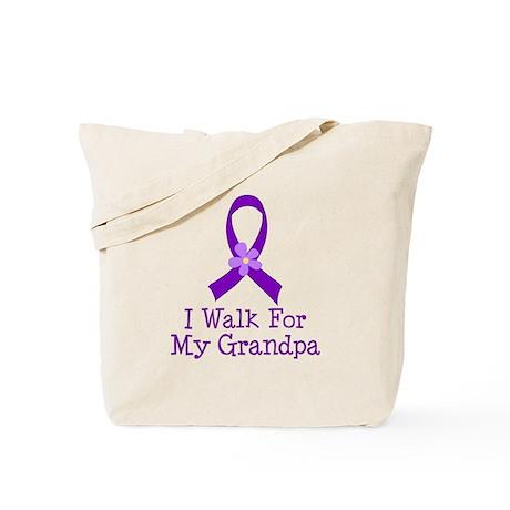Alzheimer's Walk For Grandpa Tote Bag