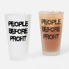 People Before Profit Drinking Glass