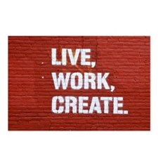 Live, Work, Create! Postcards (Package of 8)