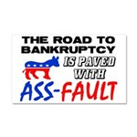 """""""Road To Bankruptcy"""" Car Magnet 20 x 12"""