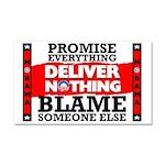 """""""Obama: Deliver Nothing"""" Car Magnet"""