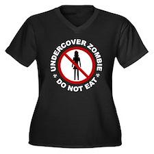Undercover Zombie - Do Not Eat Women's Plus Size V