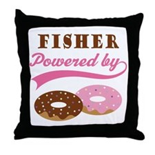 Fisher Gift Donuts Throw Pillow
