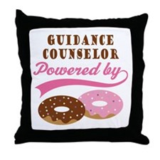 Guidance Counselor Gift Donuts Throw Pillow