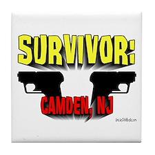 Survivor: Camden NJ Tile Coaster