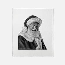 Engraved Santa Throw Blanket