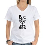 Fawkes 99% Women's V-Neck T-Shirt