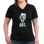 Fawkes 99% Women's V-Neck Dark T-Shirt