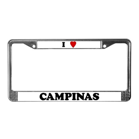 I Love Campinas License Plate Frame
