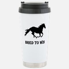Bred To Win Horse Racing Stainless Steel Travel Mu