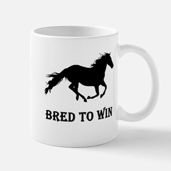 Bred To Win Horse Racing Mug
