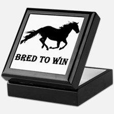 Bred To Win Horse Racing Keepsake Box