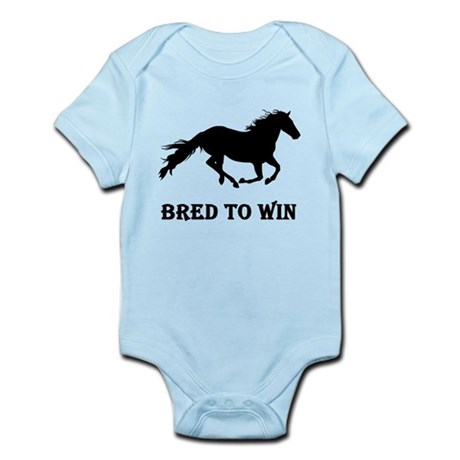 Bred To Win Horse Racing Infant Bodysuit