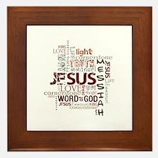 Jesus Word Cloud Framed Tile