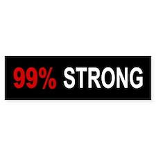99 Percent Strong: Bumper Sticker
