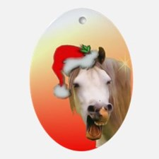 """Happy Horse"" Xmas Oval Ornament"