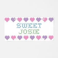 Sweet JOSIE Aluminum License Plate