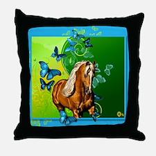 Palomino Butterflies Throw Pillow