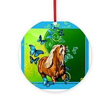 Palomino Butterflies Ornament (Round)