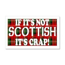 If it's not Scottish, It's Cr Car Magnet 20 x 12