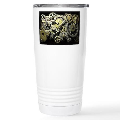 SteamPunk Gears Stainless Steel Travel Mug